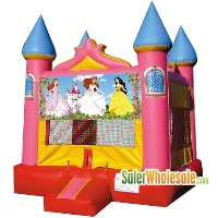 Commercial Grade 13' x 13' Inflatable Princess Pink Castle Bouncer Bouncy House