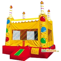 Commercial Grade 13' x 13' Inflatable Birthday Cake Bouncer Bouncy House