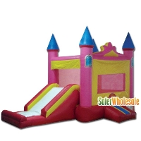 Commercial Grade 13' x 13' Inflatable Princess Pink Castle Combo Bouncer Bouncy House