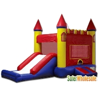 Commercial Grade 13' x 13' Inflatable Red Castle Bouncer Bouncy House