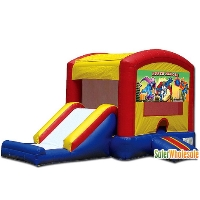 Commercial Grade 13' x 13' Inflatable Super Heros Combo Bouncer Bouncy House