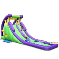Double Inflatable Water Slide with Splash Pool