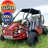 Trailmaster 300cc 4 Seater Go Kart CVT Fully Auto w/Reverse - 300 XRS4E