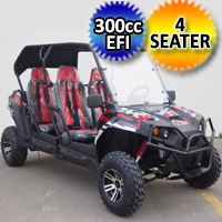 4 Seater TrailMaster Challenger 4 300X Gas Golf Cart Limo UTV Utility Vehicle - Challenger4-300X