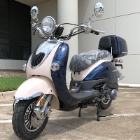 150cc Sorrento 4 Stroke Two Tone Retro Style Moped Scooter Fully Assembled - Sorrento 150A