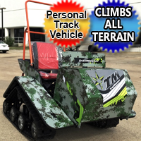 200cc Tracked Vehicle PTV ATV UTV Super Traxx 6.5hp