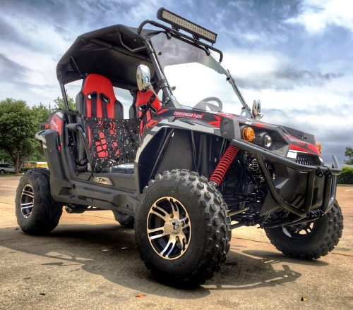 New 150x 150cc Golf Cart Trailmaster Challenger X Utv Fully Loaded Edition With Led Light Bar More