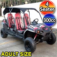 300cc 4 Seater UTV Golf Cart Gas Adult Size Utility Vehicle TrailMaster Challenger