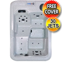 Amethyst Plus 3 Person Rectangular Hot Tub Spa w/ 30 Therapeutic Jets