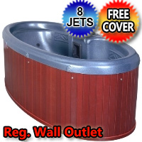 Dream Star 2 Person Plug & Play Hot Tub Spa w/ 8 Therapeutic Graphite Gray Jets