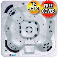 Garnet Plus 3 - 8 Person Non Lounger Hot Tub Spa w/ 72 Therapeutic Jets