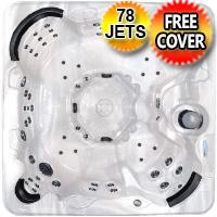 Gemstone Plus 3 - 8 Person Non Lounger Hot Tub Spa w/ 78 Therapeutic Jets