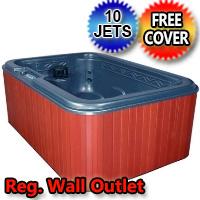 Mystic 4 Person Plug-n-Play Hot Tub Spa w/ Therapeutic Graphite Gray Jets