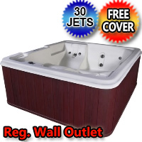 Orion 5 Person Lounger Plug 'N' Play Hot Tub Spa w/ 30 Therapeutic Stainless Steel Jets