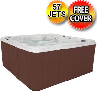 Pisces 8 Person Non-Lounger Hot Tub Spa w/ 57 Therapeutic Jets