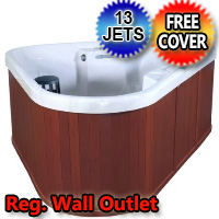 Riviera Corner Unit Plug & Play 3 Person Hot Tub Spa with 13 Therapeutic Jets