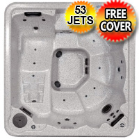 Ruby Plus 2 - 6 Person Lounger Hot Tub Spa w/ 53 Therapeutic Jets
