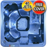 Ruby Plus 6 Person Lounger Hot Tub Spa w/ 40 Therapeutic Jets