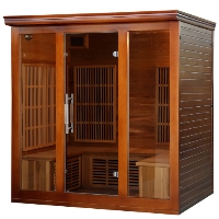 4-5 Person Cedar Elite Premium Infrared Sauna w/ 9 Carbon Heaters - SA1322