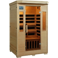 2 Person Infrared Sauna w/ 6 Carbon Heaters - Genesis Series
