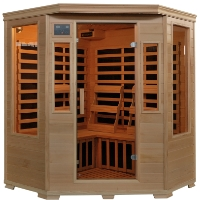 3 Person Infrared Sauna w/ 7 Carbon Heaters - Genesis Series
