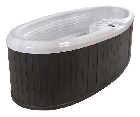 Silver Star 2 Person Oval Plug U0026 Play Hot Tub Spa W/ 16 Therapeutic  Stainless Steel Jets
