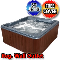 Star Gazer Super Spa 5 Person Plug & Play Hot Tub w/ 30 Therapeutic Graphite Gray Jets