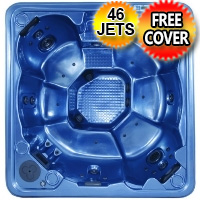Topaz Plus 8 Person Non Lounger Hot Tub Spa w/ 46 Therapeutic Jets