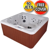 Tranquility NL 8 Person Non-Lounger Hot Tub Spa w/ 60 Therapeutic Jets