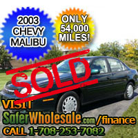 2003 Cheap Used Green Chevy Malibu Vehicle - Low Price Car