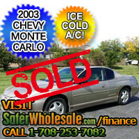 2003 Cheap Used Chevy Monte Carlo Vehicle - Low Price Car