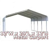 12'W x 29'L x 12'H Classic Metal Carport