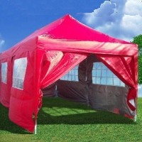Heavy Duty 10' x 20' Red EZ Pop Up Party Tent