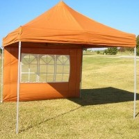 Brunt Orange 10' x 10' Pop Up  Canopy / Tent
