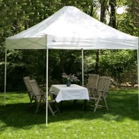 High Quality 10' x 10' White Easy Pop Up Express Tent / Gazebo