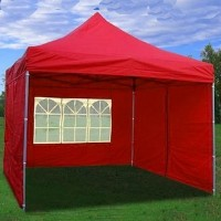 10' x 10' Pop Up Red Party Tent
