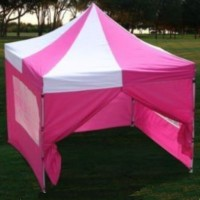 10'x10' Pink & White Easy Pop Up  Canopy / Tent