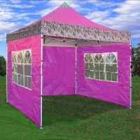 Brand New 10' x 10' Pink Zebra Pattern Pop Up Tent
