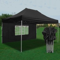 Heavy Duty 10' x 15' Black Pop Up Party Tent