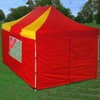Heavy Duty 10' x 15' Red / Yellow Pop Up Tent