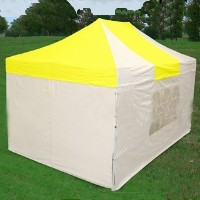 10'x15' Yellow & White Pop Up  Canopy / Tent