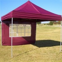 10' x 10' Easy Pop Up Maroon Party Tent
