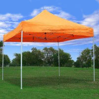10' x 10' Pop Up Orange Party Tent