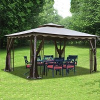 High Quality 10' x 12' Outdoor Gazebo Canopy Shelter