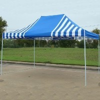 10' x 15' Blue & White Stripe Pop Up Party Tent