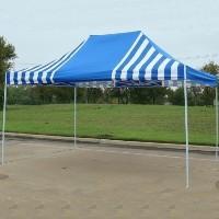 10' x 15' Blue & White Stripe Pop Up Party Tent