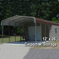 12' x 26' x 6' Steel Metal Garage - Installation Included