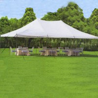 High Quality White 20' x 30' Commercial Grade Party Tent With Mosquito Netting