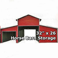 32' x 26' Horse Stable & Barn Carport - Installation Included