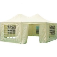 Heavy Duty Beige 16.4' x 22.3' Octangle Party Tent